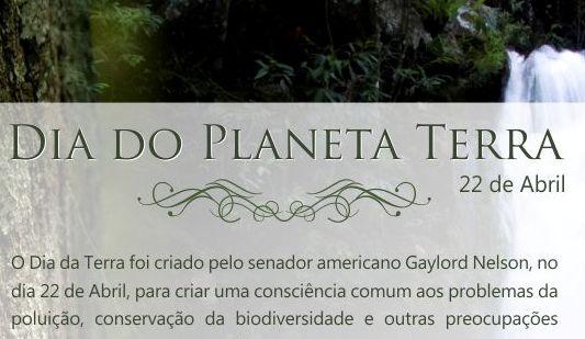 DIA DO PLANETA TERRA